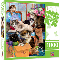 Furry Friends - Trouble Makers 1000 Piece Jigsaw Puzzle