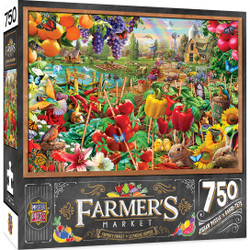 Farmer's Market - A Plentiful Season - 750 Piece Jigsaw Puzzle