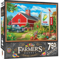 Farmer's Market - Country Heaven - 750 Piece Jigsaw Puzzle by Alan Giana