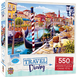 Travel Diary Venice - 550 Piece Jigsaw Puzzle