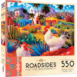 Roadsides of the Southwest - Gallos Blancos - 550 Piece Jigsaw Puzzle