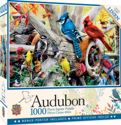 Audubon Backyard Birds 1000 Piece Jigsaw Puzzle