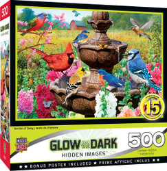 Hidden Image Glow in the Dark - Garden of Song 500 Piece Jigsaw Puzzle
