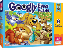 Googly Eyes Right Fit - Woodland Animals - 48 Piece Kids Puzzle