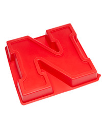 Nebraska Cornhuskers Cake Pan with Stand