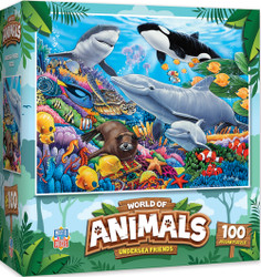 World of Animals - Undersea Friends - 100 Piece Kids Puzzle