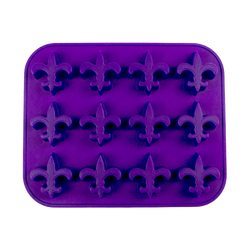 Fleur de Lis Ice Tray and Candy Mold  purple