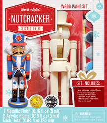 Nutcracker Soldier Holiday Wood Paint Kit