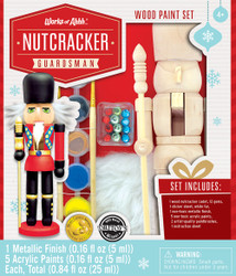 Nutcracker Guardsman Holiday Wood Paint Kit