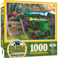 Farm Country - Deer Crossing 1000 Piece Jigsaw Puzzle