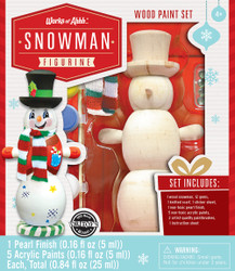 Snowman Figurine Holiday Wood Paint Kit