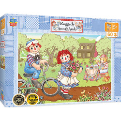 Raggedy Ann & Andy Right Fit - Bike Ride 60 Piece Jigsaw Puzzle