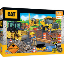Caterpillar Parking Lot - Construction Trucks 60 Piece Kids Puzzle
