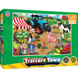 Tractor Town Market Day - Tractors 60 Piece Kids Puzzle