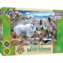 National Parks - Mount Rushmore Right Fit 100 Piece Kids Puzzle
