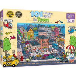 101 Things to Spot in Town Right Fit - 101 Piece Kids Puzzle