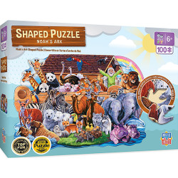Shaped Right Fit - Noah's Ark 100 Piece Kids Puzzle