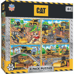 4-Pack - Caterpillar 100 Piece Jigsaw Puzzle