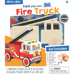 Firetruck Wood Paint Kit