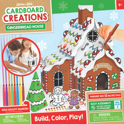 Gingerbread House Buildable Cardboard Creations Kit