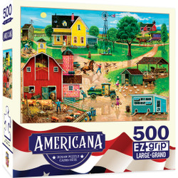Americana - After the Chores 500 Piece EZ Grip Jigsaw Puzzle by Bob Pettes
