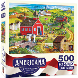 Americana - School Days 500 Piece EZ Grip Jigsaw Puzzle by Bob Pettes