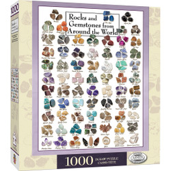 Poster Art - Rocks & Gemstones from Around the World 1000 Piece Jigsaw Puzzle