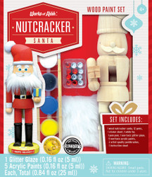 Nutcracker Santa Holiday Wood Paint Kit