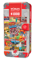 World's Smallest Route 66 1000 Piece Tin Box Jigsaw Puzzle