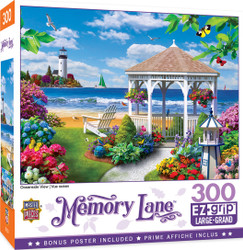 Memory Lane Oceanside View - Large 300 Piece EZGrip Jigsaw Puzzle by Alan Giana