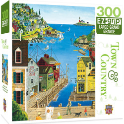 Town & Country A Walk on the Pier - Large 300 Piece EZGrip Jigsaw Puzzle by Art Poulin