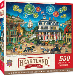 Heartland Collection Fireworks Finale - 550 Piece Jigsaw Puzzle by Bonnie White