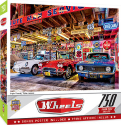 Wheels Triple Threat - 750 Piece Jigsaw puzzle by Linda Berman