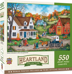 Heartland Collection Dinner at Grandmas - 550 Piece Jigsaw Puzzle by Bonnie White