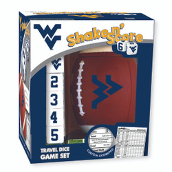 West Virginia Shake n' Score Travel Dice Game