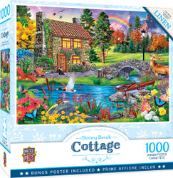 Flower Cottages - Stoney Brook Cottage 1000 Piece Jigsaw Puzzle
