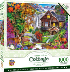 Flower Cottages - Hidden Falls Cottage 1000 Piece Jigsaw Puzzle