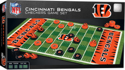 Cincinnati Bengals Checkers Board Game