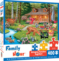 Family Hour Creekside Gathering Large 400 Piece EZGrip Jigsaw Puzzle