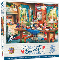 Home Sweet Home - Baking Bread - 550 Piece Jigsaw Puzzle