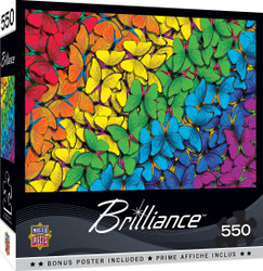 Brilliance - Fluttering Rainbow 550 Piece Jigsaw Puzzle