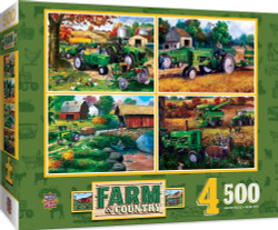 Farm Country 4-Pack 500 Piece Jigsaw Puzzles