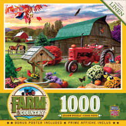Farm Country - Harvest Ranch 1000 Piece Linen Jigsaw Puzzle
