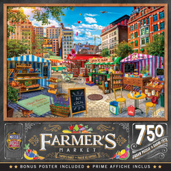 Farmer's Market - Buy Local Honey - 750 Piece Jigsaw Puzzle