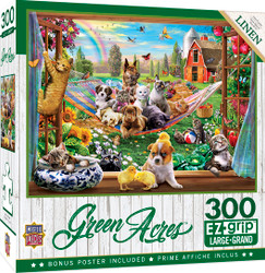 Green Acres Linen - Afternoon Siesta - 300 Piece EZGrip Jigsaw Puzzle