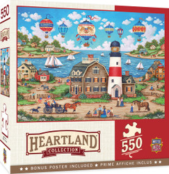 Heartland Collection - Balloons Over the Bay - 550 Piece Jigsaw Puzzle by Bonnie White