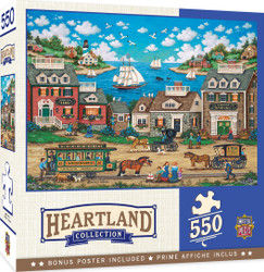 Heartland Collection - Oceanside Trolley - 550 Piece Jigsaw Puzzle by Bonnie White