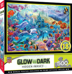 Hidden Image Glow in the Dark - Sea Castle Delight - 500 Piece Jigsaw Puzzle