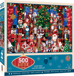 Holiday - Holiday Festivities  500 Piece Glitter Jigsaw Puzzle