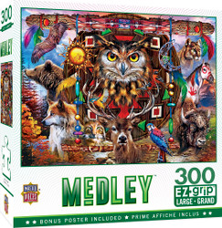 Medley - Animal Totems - 300 Piece EZGrip Puzzle